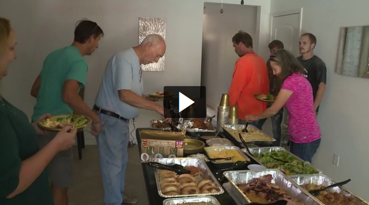 Group serves Thanksgiving dinner to Dickinson families affected by harvey